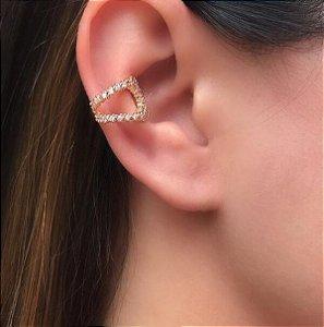 Piercing Vazado Cravejado Ouro 18k