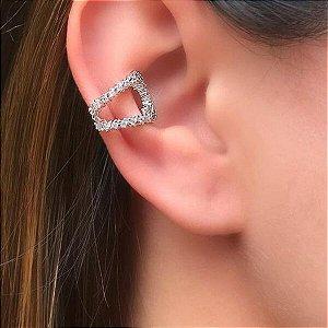 Piercing Vazado Cravejado Rhodium