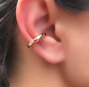 Piercing Falso Liso Ouro 18k P