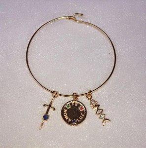 Bracelete Pingentes Ouro 18k