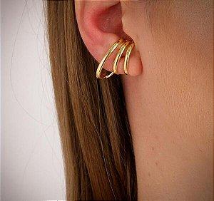 Brinco Ear Hook Tubo Triplo
