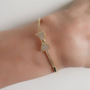 Bracelete de Laço Zircônias Branca