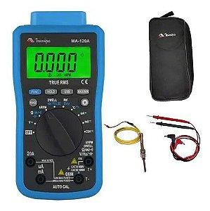 Multimetro Digital Automotivo Ma-120 Temperatura Rpm Minipa
