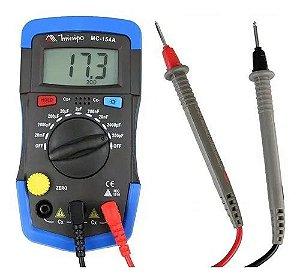 Capacimetro Digital Mc-154a Minipa Nova Versao Capacitor NF