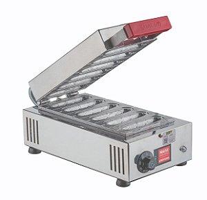 Crepeira Máquina de Crepe Elétrica Inox Profissional Suiço