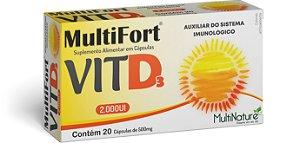 Multifort VITA D3 2000 UI 20 Caps