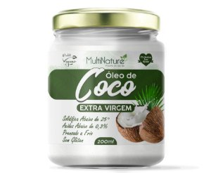 Oleo Coco Extra Virgem 200Ml