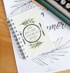 Caderneta Literária Comer, beber e amar