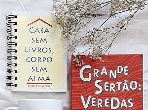 Caderneta Literária Casa sem livros, corpo sem alma