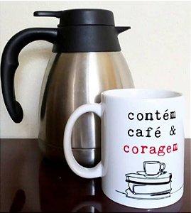 Caneca Café e coragem