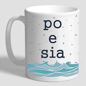 Caneca Literária Poesia e Mar