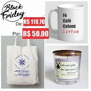 Kit Ecobag, Caneca e Vela Perfumada