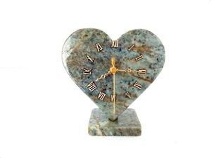 Relógio Coração de Pedra Sabão