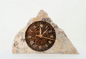 Relógio Artesanal  de Pedra Sabão