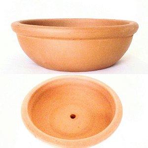 Vaso Cerâmica Redondo tipo Bacia para Jardim 25 x 10