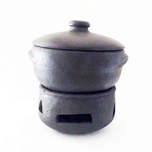 Conjunto Fondue de Cerâmica 9 Peças com Suporte