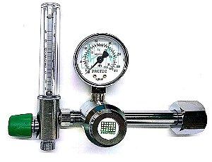 Válvula Redutora de pressão para cilindro 1 Man C/Flux CB LG O2