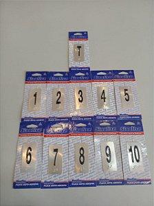 Kit Placa em Braille para Pavimento: Térreo, 1,2,3,4,5,6,7,8,9,10