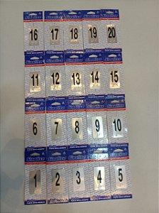 Kit Placas em Braille de Pavimentação para Elevadores (1 ao 20)