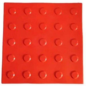 Piso Tátil alerta cor vermelho
