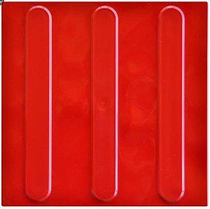Piso Tátil direcional cor vermelho