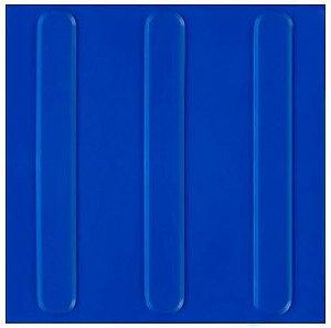 Piso Tátil direcional cor azul