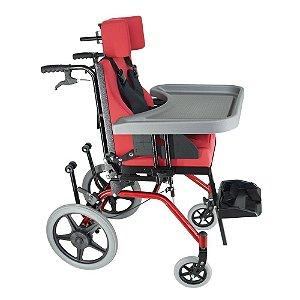 Cadeira de Rodas Linha Postural TPR - VERMELHA - 30 cm