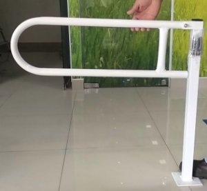 Barra de apoio articulada com pedestal - Aço Carbono