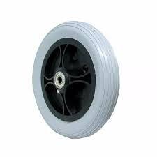 """Roda aro 5"""" com pneu cinza"""