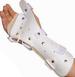 Tala de PVC para punho e polegar esquerda