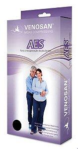 Meia de compressão panturrilha AES 18 mmHg AD pé aberto - branca
