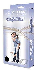 Meia de compressão panturrilha confortline 20-30 AD Curta Pé Aberto Bege