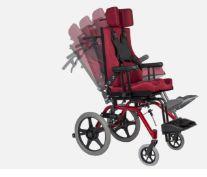 Cadeira de rodas linha postural TPR  com mesa de atividade e cinto Y