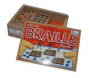Alfabeto Braille Vazado Madeira
