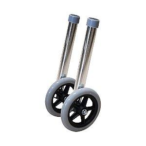 Par de rodas para andador de alumínio Dellamed