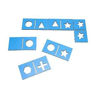 Dominó de Formas Vazado Braille