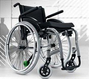 Cadeira De Rodas Monobloco  Star Lite c/ Apoio de Braço Tubular - VERMELHO METÁLICO - 42 CM