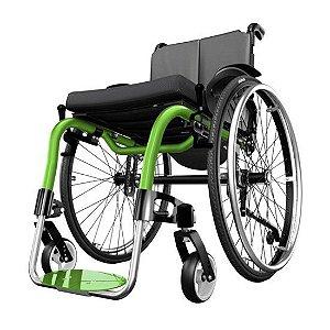 Cadeira de Rodas Monobloco Ventus - PRETO - 40 CM