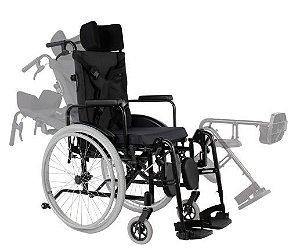 Cadeira de Rodas Reclinável MA3R - PRETO - 42 CM