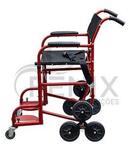 Cadeira de Rodas Para Escada - VERMELHO