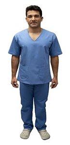 Pijama Cirúrgico em Brim Leve - Masculino - G