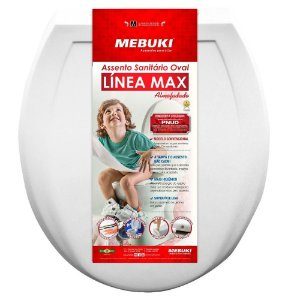 Assento Almofadado Linea Max Oval Branco