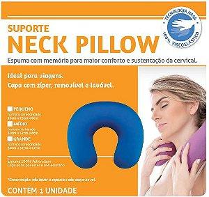 Neck Pillow Grande com botão - Azul