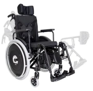 Cadeira de Rodas Reclinável MA3R - PRETO - 40 CM