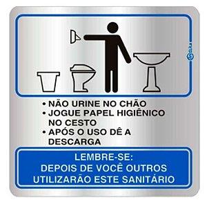 Placa em Alumínio - PROCED SANITÁRIO MASCULINO
