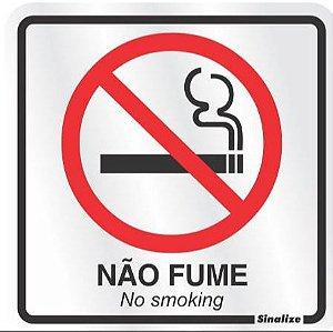 Placa em Alumínio - PROIBIDO FUMAR