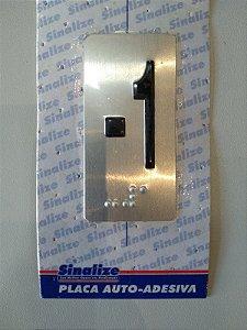 Placa em alumínio em braille para andares  -1