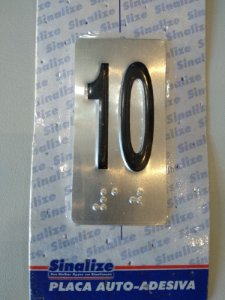 Placa em Alumínio em Braille para Andares  10