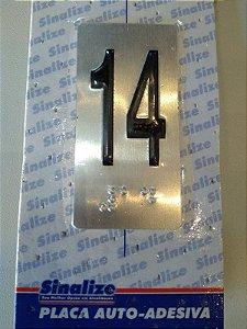 Placa em Alumínio em Braille para Andares  14