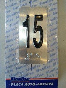 Placa em Alumínio em Braille para Andares  15